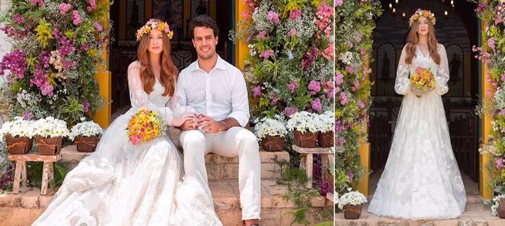 Inspiração: Vestido de noiva de Marina Rui Barbosa tomara que caia + transparência