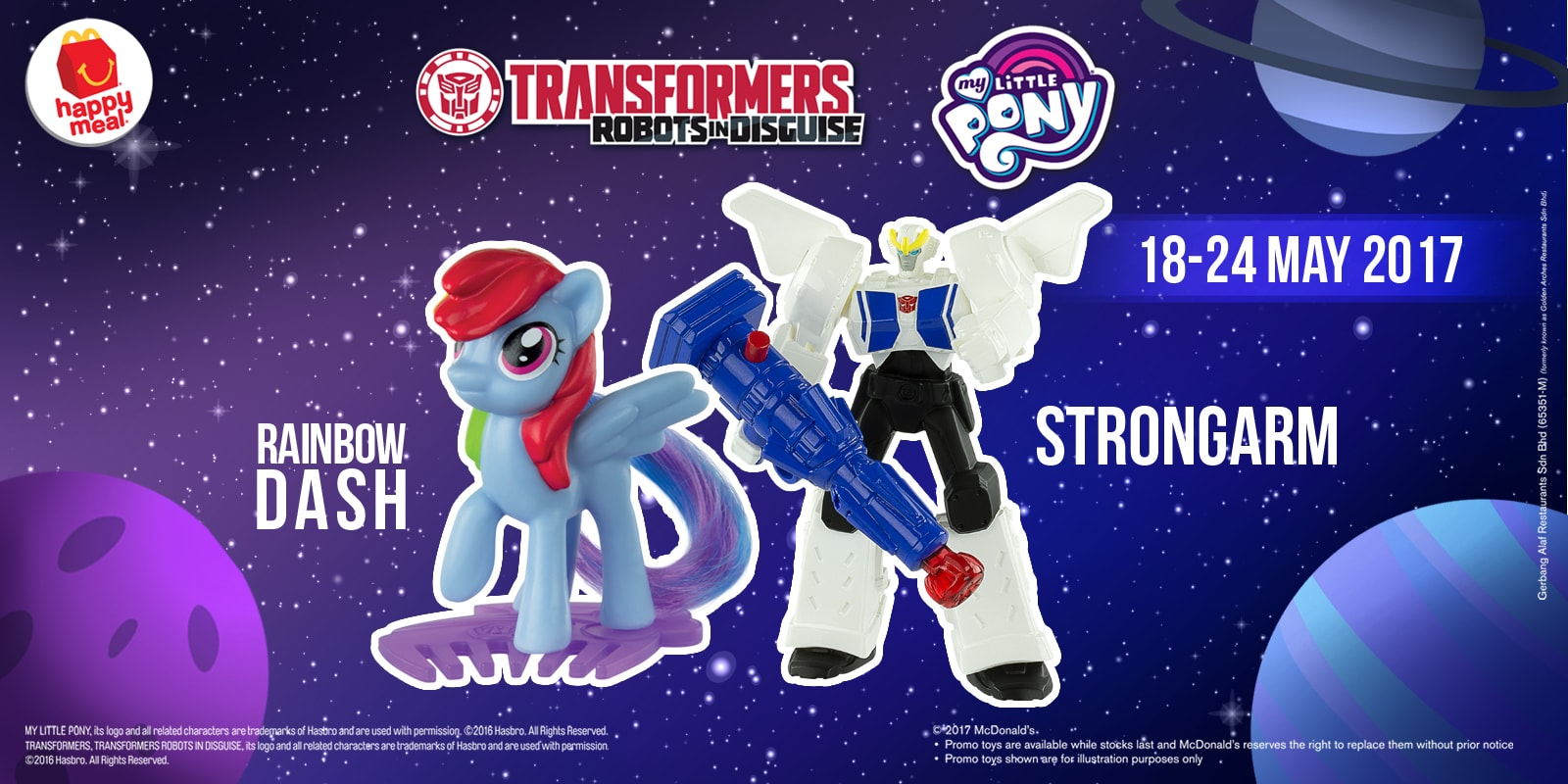 McDonald's Happy Meal FREE Transformers & My Little Pony