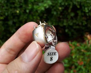 Ring Perak Hongkong 925 Mewah Kombinasi Silver Gold Zircon PRK043