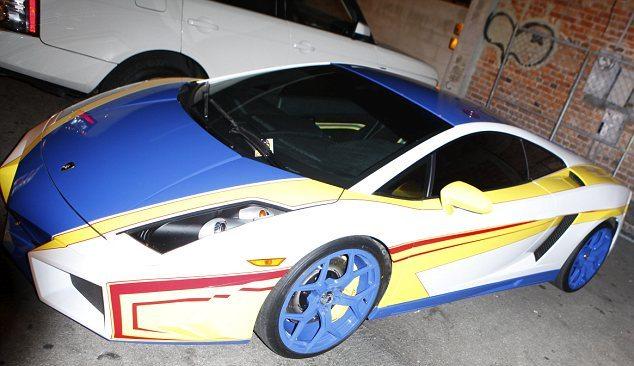 Chris Brown Cars: Chris Brown's Colourful New Gallardo