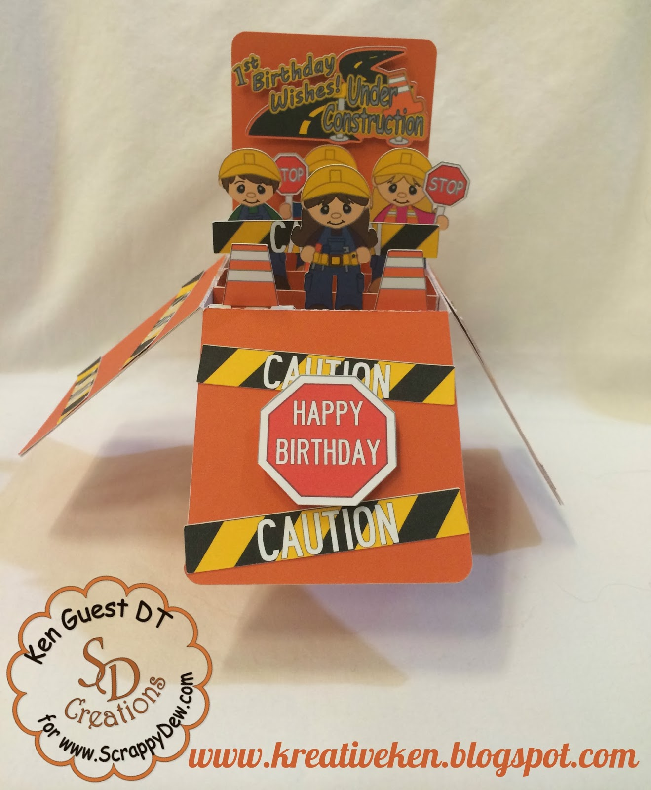 Birthday Cards Box ~ Card in a box construction birthday ken s kreations