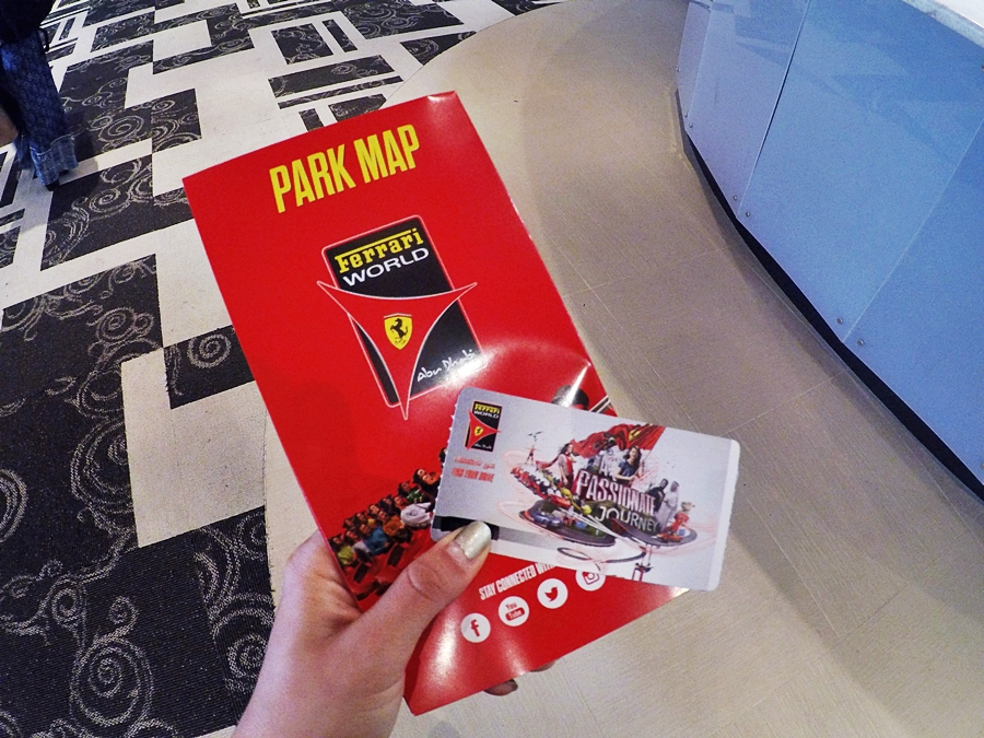 park map ferrari world ticket