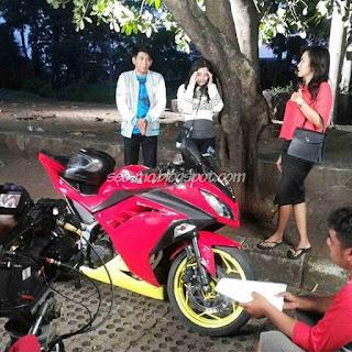 Foto Angga Putra dan Kathy Indera Syuting Anak Jalanan RCTI