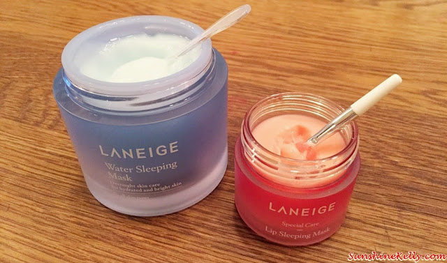 Beauty Review, Laneige New Water Sleeping Mask, Laneige New Lip Sleeping Mask, Laneige Malaysia