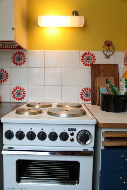 värikäs keittiö