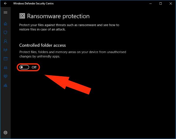Menonaktifkan windows defenfer
