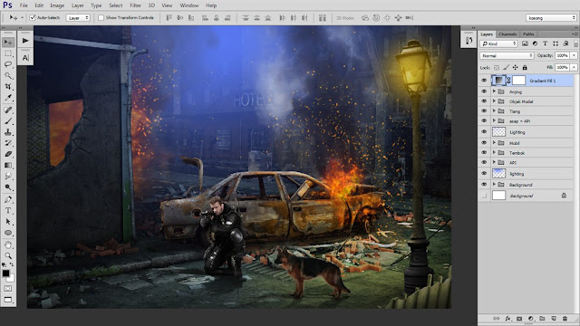 42 Tutorial Photoshop Dramatic Manipulation WAR part 2