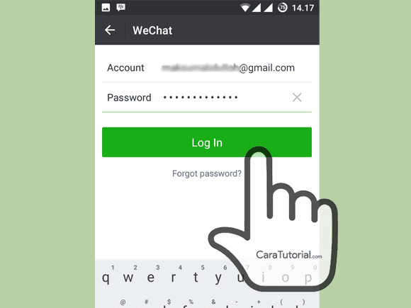 Login WeChat via Email