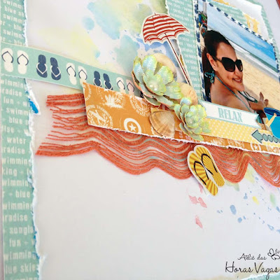 scrap scrapbook scrapbooking beach boardwalk carta bella verão praia sol