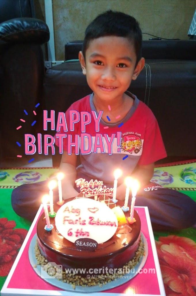 Faris Zakwan turns 6