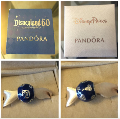 Charm PANDORA Disneyland Anaheim spécial 60 ans