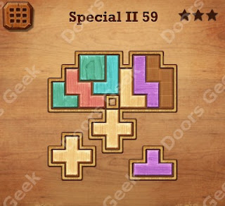 Cheats, Solutions, Walkthrough for Wood Block Puzzle Special II Level 59