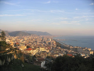 A panorama of the coastal city of Salerno