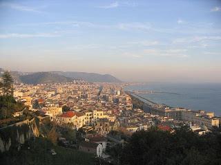 A panorama of the coastal city of Salerno