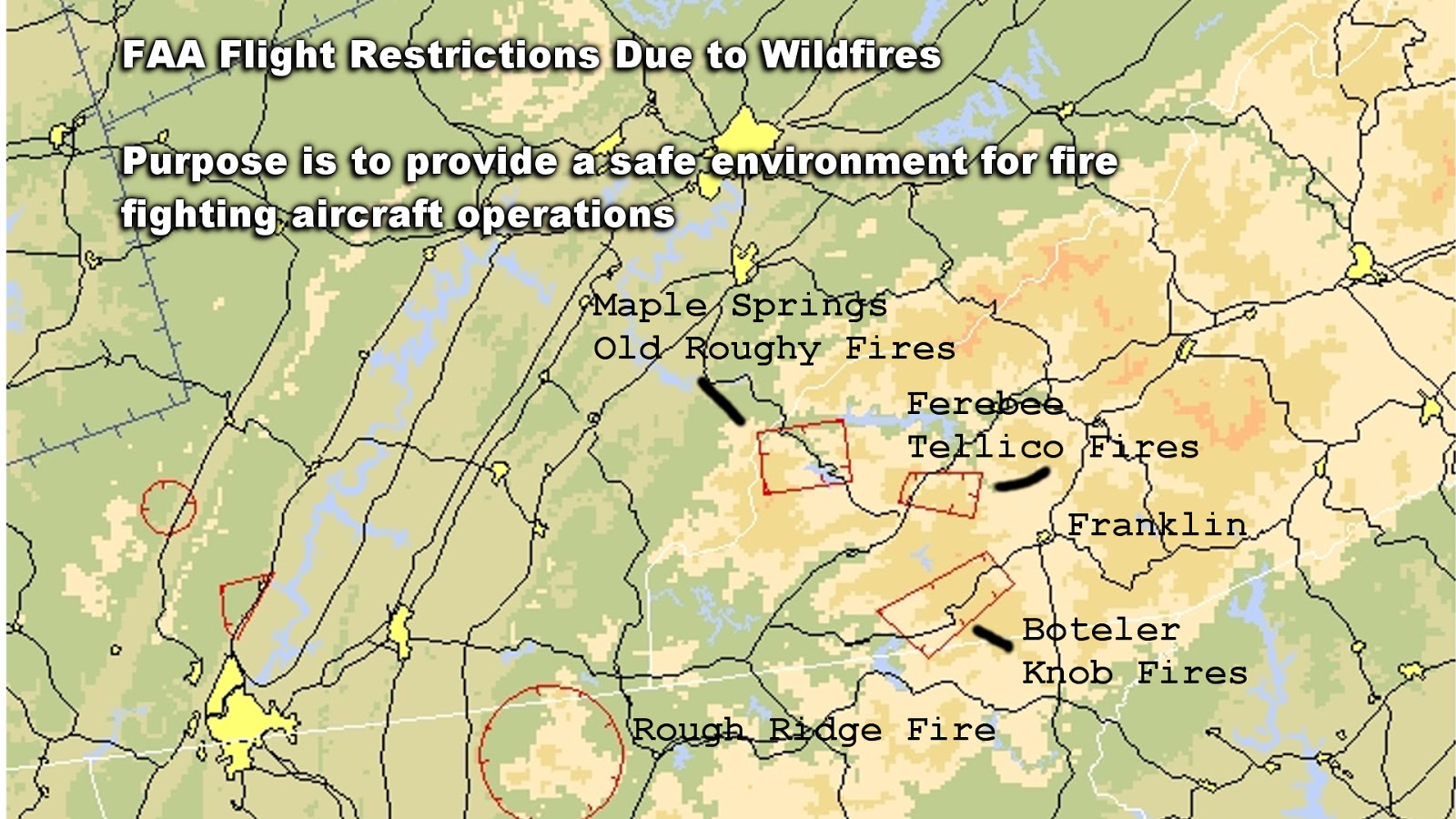Flight Restrictions Near Wildfires