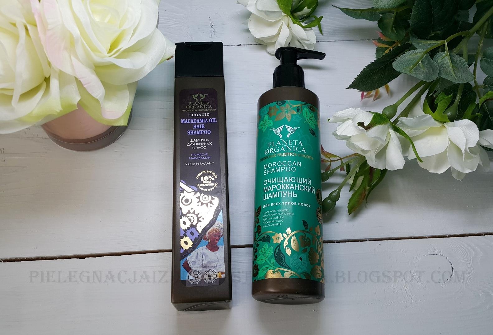 Szampon marokański i szampon oczyszczający z olejem makadamia Planeta Organica | Uważajcie na nie!