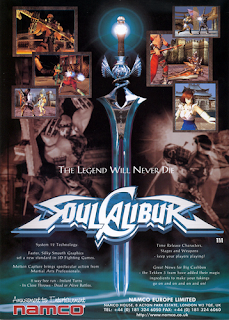 Soul Calibur+arcade+game+portable+3d+fighter+sword+art+flyer