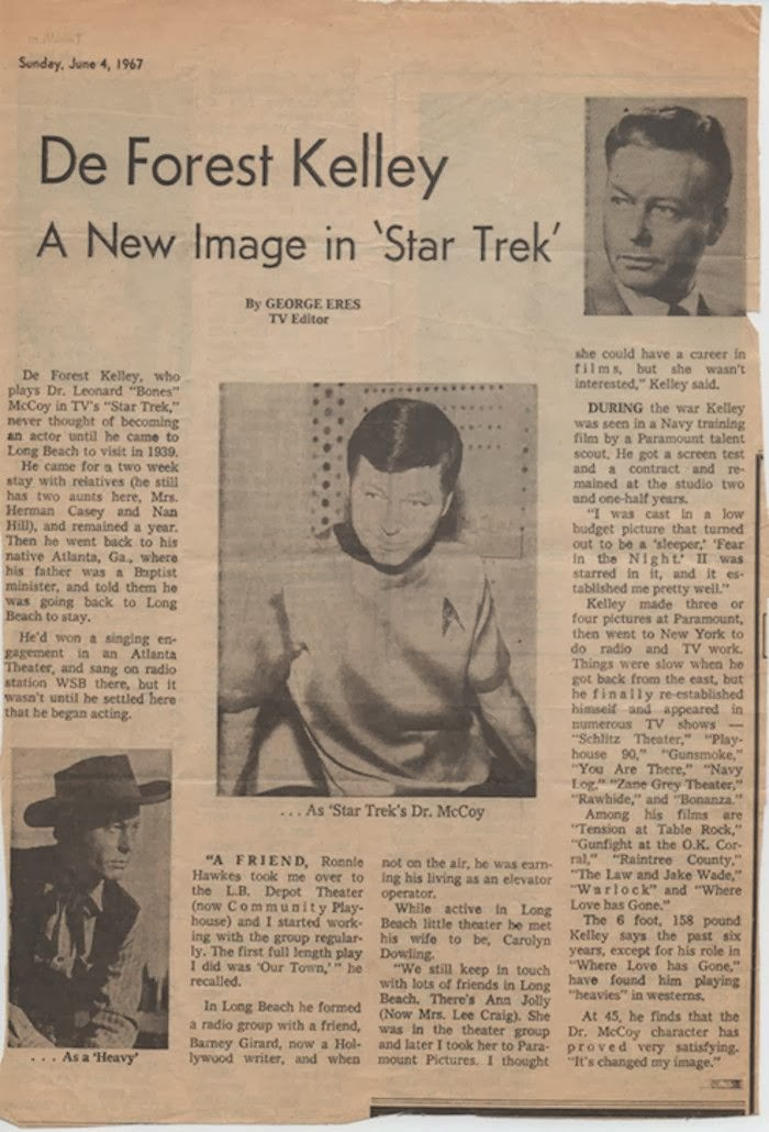 DeForest Kelley Star Trek worldwartwo.filminspector.com