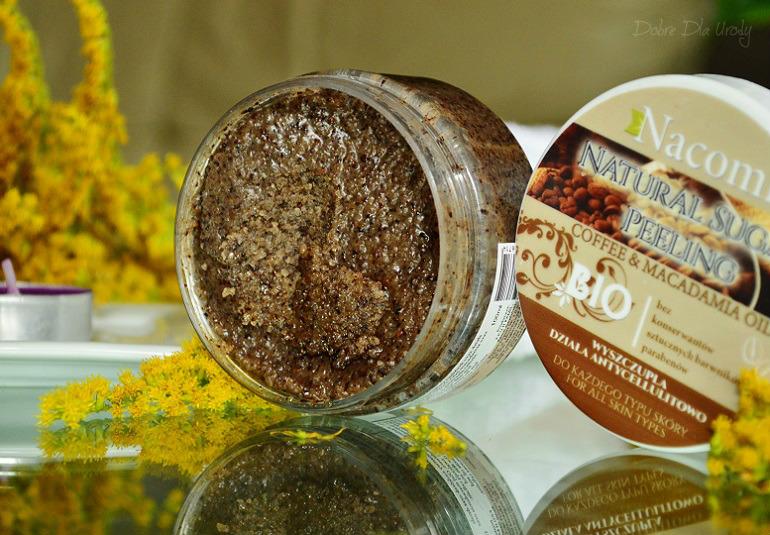 Nacomi Natural Sugar Peeling Coffee&Macadamia Oil - cukrowy peeling kawowy