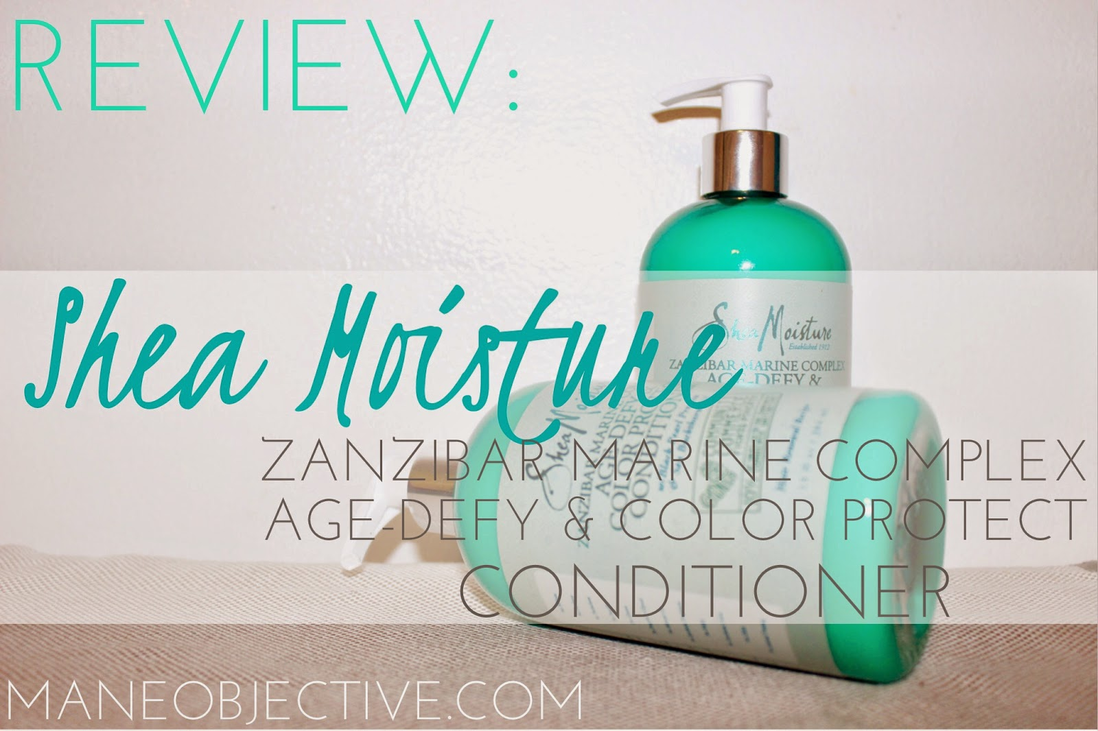 Shea Moisture Zanzibar Marine Complex Age-Defy & Color Protect Conditioner