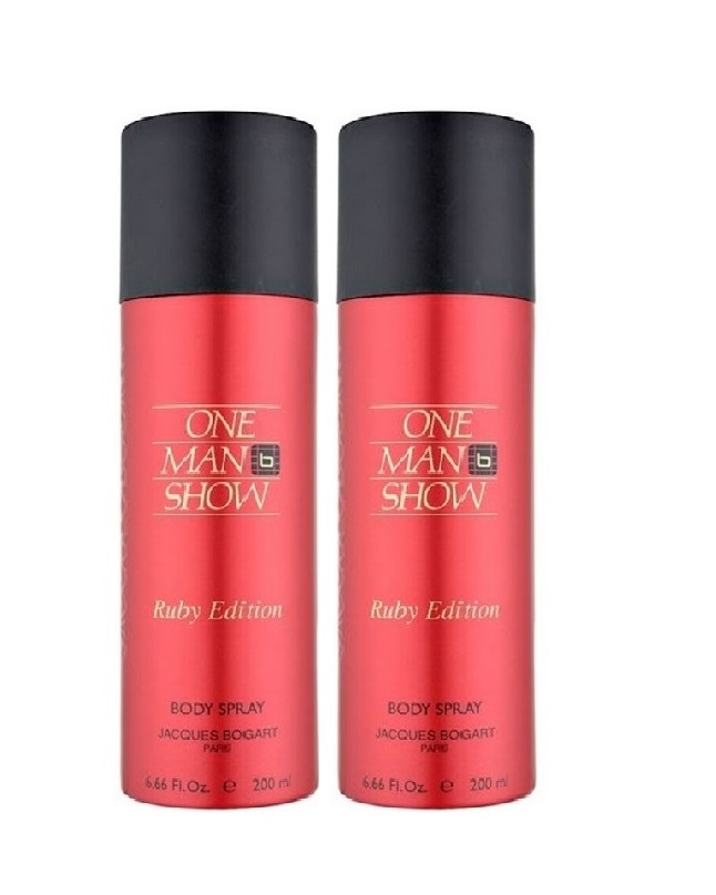 Pack Of 2 - One man Show Ruby Edition Body Spray 200 ml