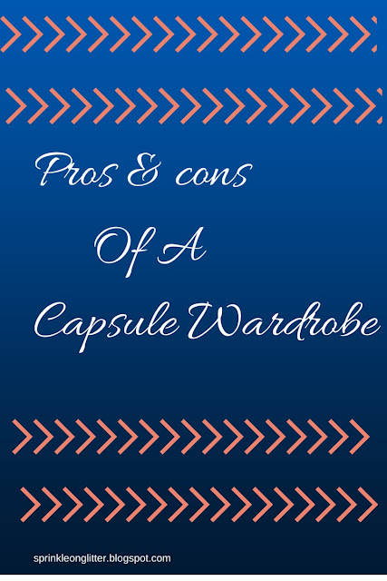 Sprinkle On Glitter Blog// Pros & Cons of A Capsule Wardrobe// graphic