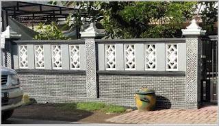9 ragam desain pagar tembok