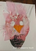 flamingo, kids crafts, masks