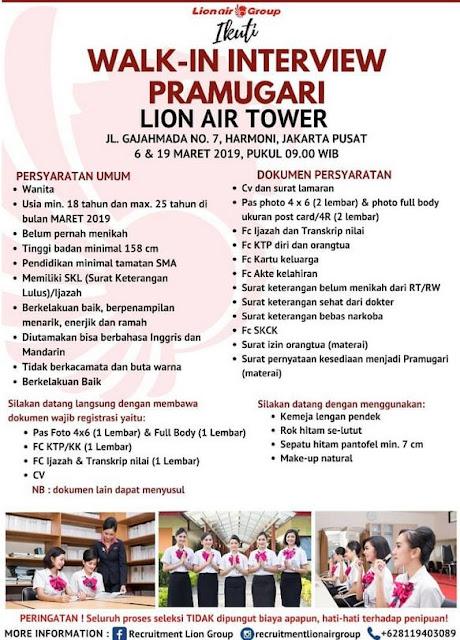 Lowongan Kerja Lion Air Group Tahun 2019