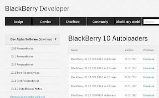Autoloader yang di Sediakan Blackberry Developer Sudah tidak kadarwarsa