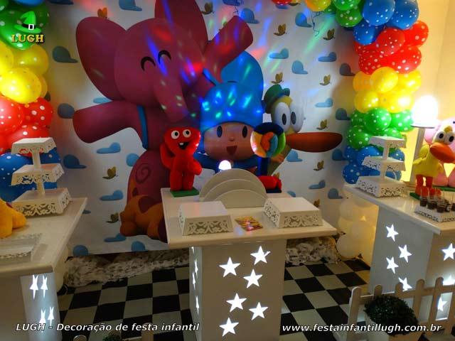 Mesa temática do Pocoyo - Festa de aniversário infantil