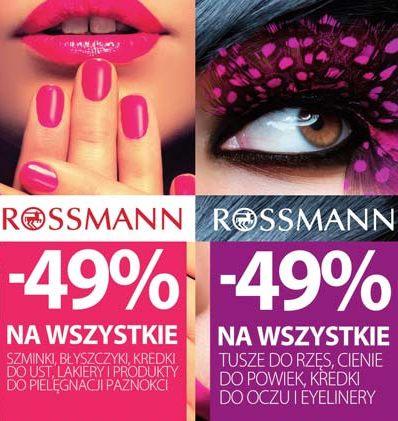 Już niedługo promocja wiosenna -49% Rossmann kwiecień 2017