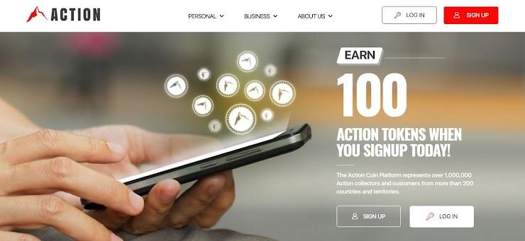Baru! Daftar sekarang Untuk Dapatkan 1000 Token Action Coin Gratis