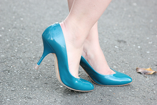 Giuseppe Zanotti Teal Patent Leather Heels Clickless Heel Protector
