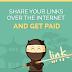 Earning BY -Whatsapp & Social Sites (सोशल साइट्स पर लिंक शेयर करके पैसे कमाये)