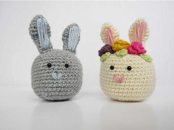 Crochet Easter Bunny Shaker - Free Pattern - Maria\'s Blue Crayon