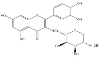 senyawa Quercetin pada crystal x
