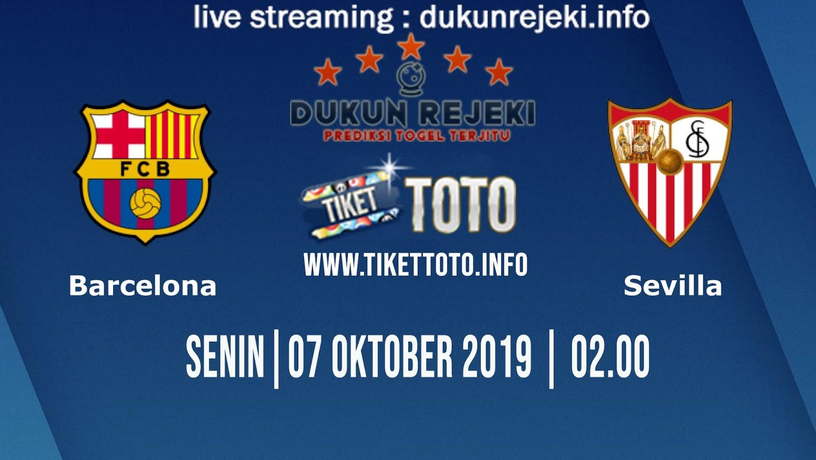 Prediksi Skor Pertandingan Barcelona Vs Sevilla 7 Oktober 2019