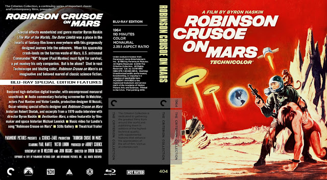 Robinson Crusoe on Mars (1964) Bluray Cover