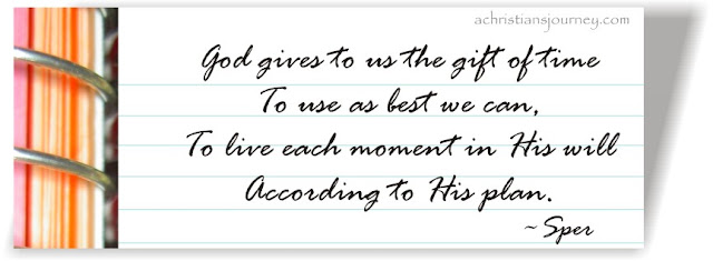 God gives us the gift of time