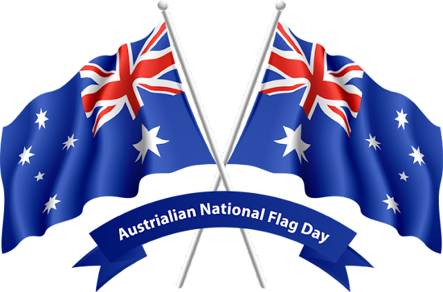 Australia Day Flags Clip Art