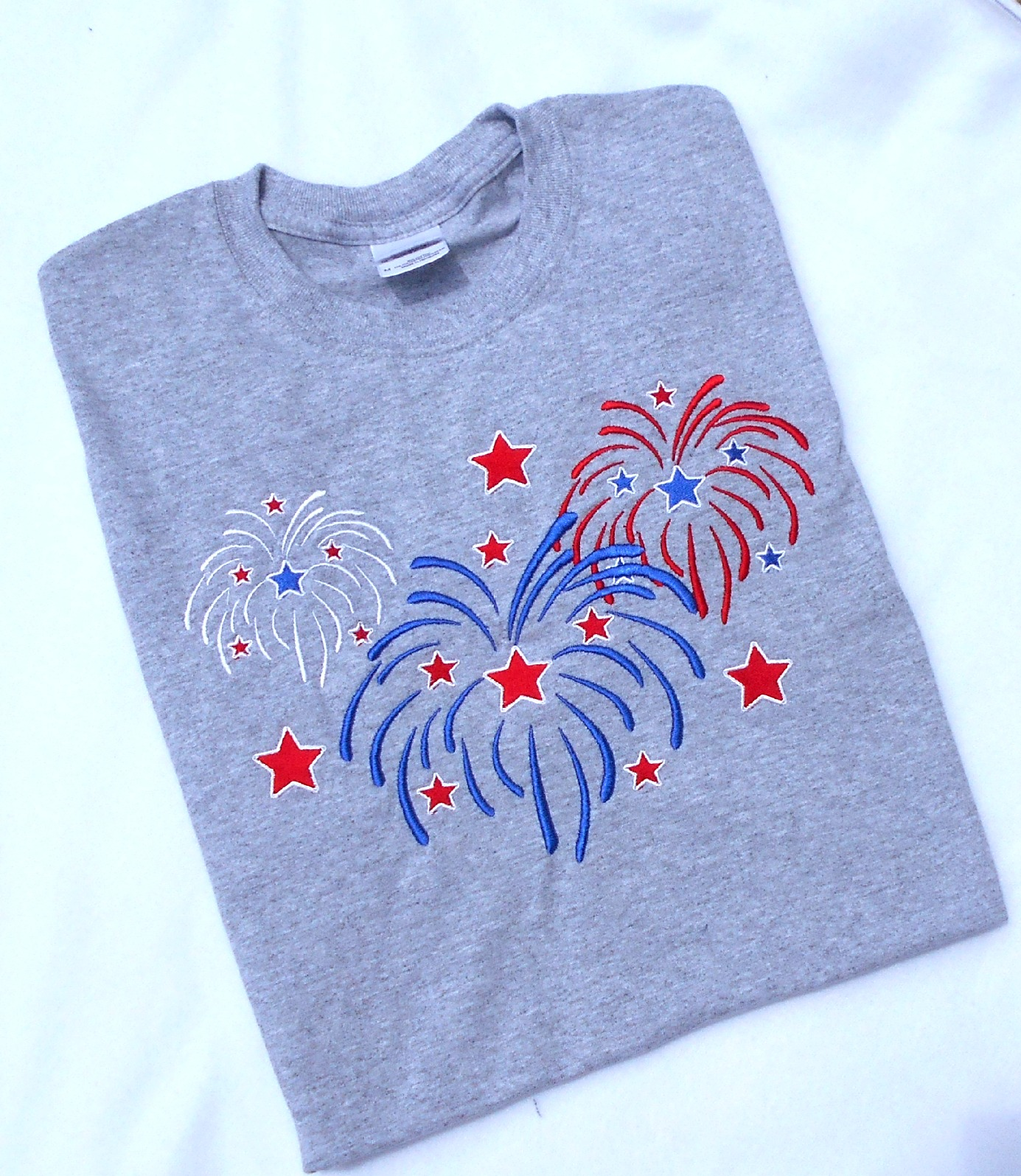 AdelaidesCorner: Fireworks Embroidery Design, 4th of July