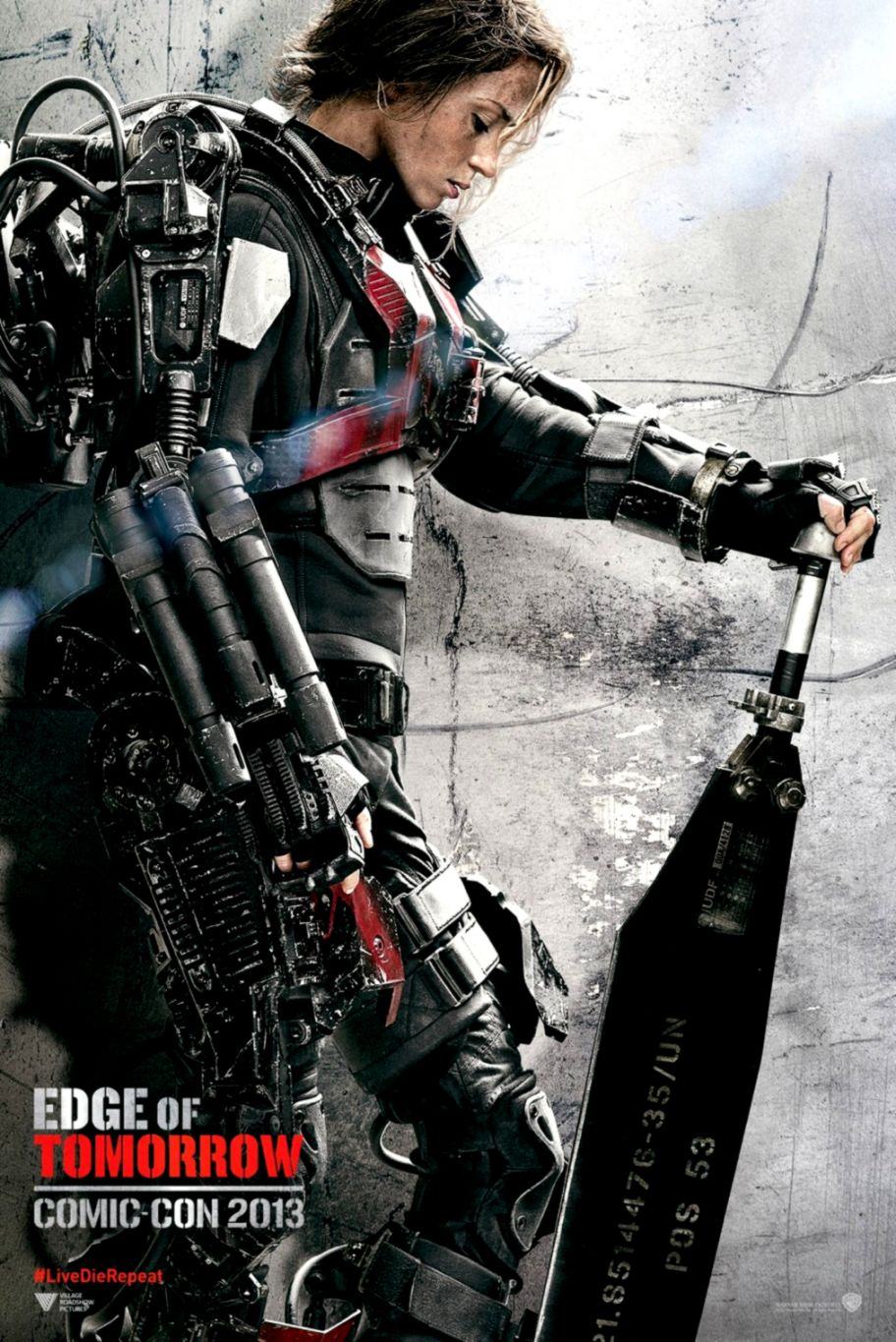 Emily Blunt And Tom Cruise In Edge Of Tomorrow Poster Wallpapers