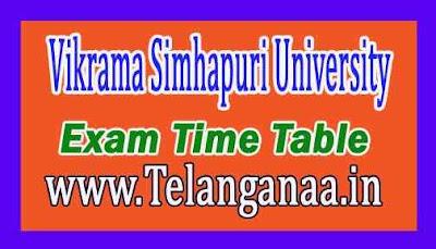 Vikrama Simhapuri University LLB Regular Supply Exam Time Table