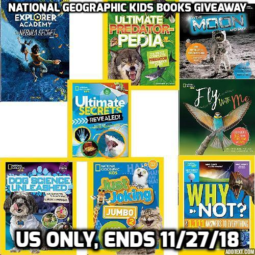 Java John Z's : National Geographic Kids Books Giveaway and