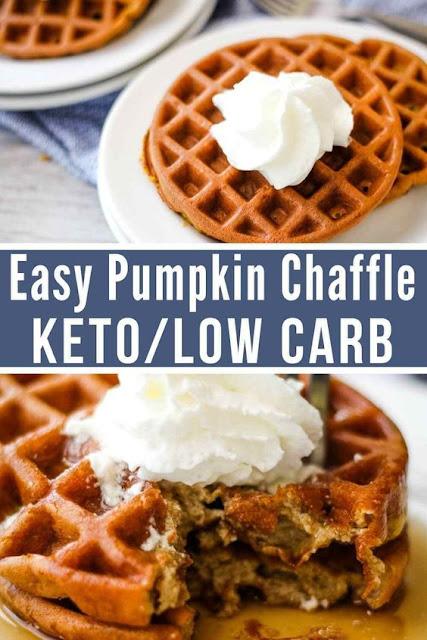 Maple Pumpkin Keto Waffle