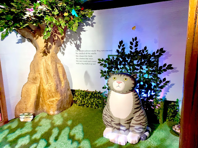 A model of Mog the forgetful cat at Discover The Children's Story Centre
