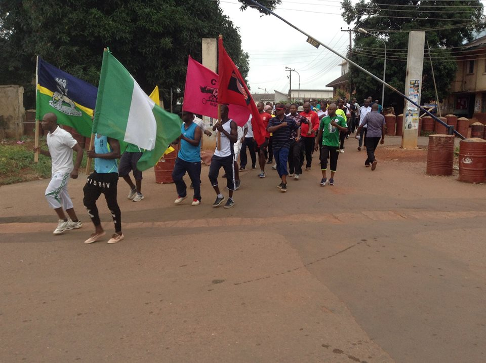 Image result for Nigerian Security agencies engage in walking, jogging exercise
