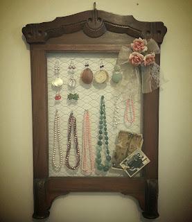 Riciclo creativo vecchia cornice:porta bijoux retrò tutorial