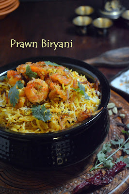 prawn Biryani ~ Shrimps Biryani
